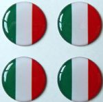3D GEL sticker  SET of 4 'ITALY'  Size approx 21.5 mm